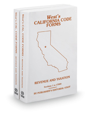 Revenue and Taxation, 2016-2017 ed. (West's® California Code Forms)