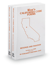 Revenue and Taxation, 2017-2018 ed. (West's® California Code Forms)