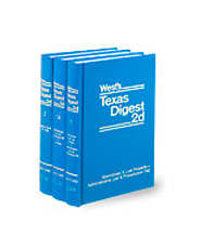 West's® Texas Digest, 2d (Key Number Digest®)