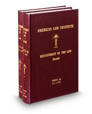 Restatement of the Law (2d) of Torts, with Appendices, Vols. 1 & 2