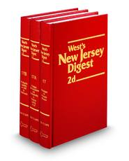 West's® New Jersey Digest, 2d (1954-Date) (Key Number Digest®)
