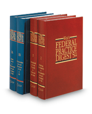 West's® Federal Practice Digest®, 4th and 5th (Key Number Digest®)