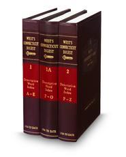 West's® Connecticut Digest (Key Number Digest®)