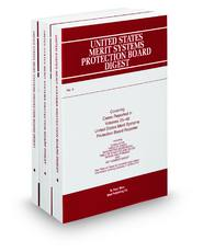 United States Merit Systems Protection Board Digest (Key Number Digest®)