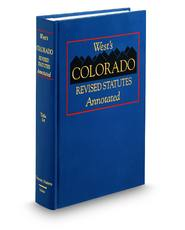 Domestic Matters, West's® Colorado Revised Statutes Annotated, Title 14 (Annotated Statute & Code Series)