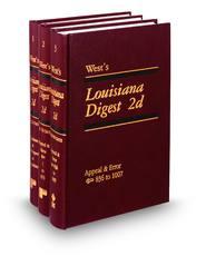 West's® Louisiana Digest®, 2d (Key Number Digest®)