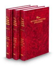 Maine Revised Statutes Annotated (Annotated Statute & Code Series)