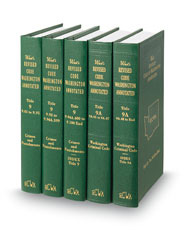 Revised Code of Washington Annotated (Annotated Statute & Code Series)
