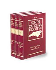 West's® North Carolina Digest, 2d (Key Number Digest®)