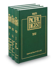 West's® Pacific Digest®, 2d--1978 to Date (Key Number Digest®)