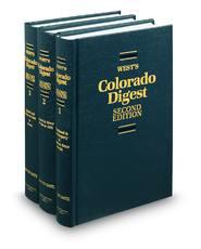West's® Colorado Digest, 2d (Key Number Digest®)