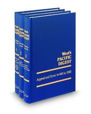 West's® Pacific Digest®, 2d—1962-1978 (Key Number Digest®)