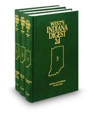 West's® Indiana Digest, 2d (1817-Date) (Key Number Digest®)