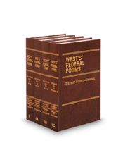 District Courts—Criminal (Vols. 5-5C, West's® Federal Forms)