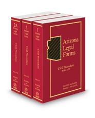Arizona Legal Forms: Civil Procedure, 2021 ed. (Vols. 1-2A)