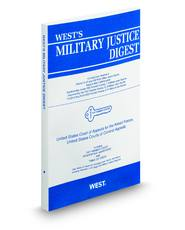 West's® Military Justice Digest (Key Number Digest®)