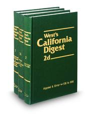 West's® California Digest, 2d (1950 to Date) (Key Number Digest®)