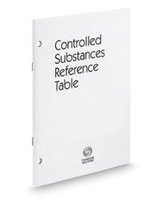 Ohio Controlled Substances Reference Table, 2016 ed.