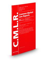 Common Market Law Reports Antitrust Issues and Index