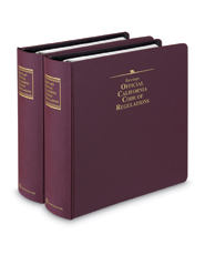 Barclays Official California Code of Regulations (CCR) Title 2 (Administration) - Complete Title
