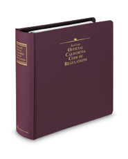 Barclays Official California Code of Regulations (CCR) Master Table of Contents