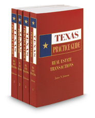 Real Estate Transactions, 2017-2018 ed. (Texas Practice Guide)