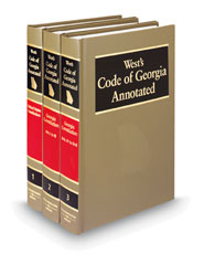 West's® Code of Georgia Annotated