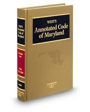 West's® Annotated Code of Maryland (Annotated Statute & Code Series)