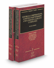 Kaplan's Nadler Georgia Corporations, Limited Partnerships and Limited Liability Companies with Forms, 2017-2018 ed.