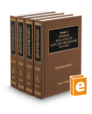 Pindar's Georgia Real Estate Law and Procedure with Forms, 7th