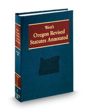 West's Oregon Revised Statutes Annotated