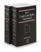 West's® Utah Court Rules Annotated, 2016 ed.