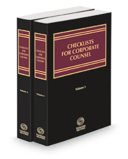 Checklists for Corporate Counsel, 2021 ed.