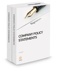 Company Policy Statements, 2017-2018 ed.
