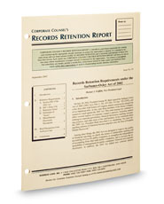 Corporate Counsel's Records Retention Report
