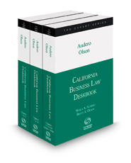 California Business Law Deskbook, 2018-2019 ed.