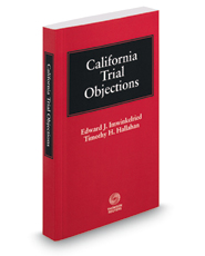 California Trial Objections, 2018-2019 ed.