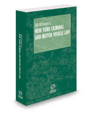 McKinney's New York Criminal and Motor Vehicle Law Pamphlet with CD-ROM, 2018 ed.