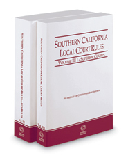 Southern California Local Court Rules - Superior Courts and KeyRules, 2018 ed. (Vols. IIIi & IIIJ, California Court Rules)