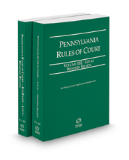 Pennsylvania Rules of Court - Local Western and Local Western KeyRules, 2018 ed. (Vols. IIIE & IIIF, Pennsylvania Court Rules)