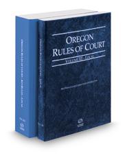 Oregon Rules of Court - Local and Local KeyRules, 2017 ed. (Vols. III & IIIA, Oregon Court Rules)