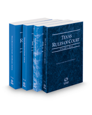 Texas Rules of Court - State, Federal, Local and Local KeyRules, 2016 ed. (Vols. I-IIIA, Texas Court Rules)