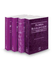 Florida Rules of Court - State, Federal, Local and Local KeyRules, 2017 revised ed. (Vols. I-IIIA, Florida Court Rules)