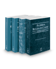 Florida Rules of Court - State, Federal, Local and Local KeyRules, 2019 ed. (Vols. I-IIIA, Florida Court Rules)