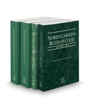 North Carolina Rules of Court - State, Federal, Local and Local KeyRules, 2017 ed. (Vols. I-IIIA, North Carolina Court Rules)