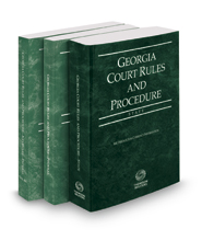 Georgia Court Rules and Procedure - State, Federal and Federal KeyRules, 2020 ed. (Vols. I-IIA, Georgia Court Rules)