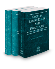 Georgia Court Rules and Procedure - State, Federal and Federal KeyRules, 2021 ed. (Vols. I-IIA, Georgia Court Rules)