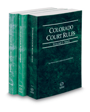 Colorado Court Rules - State, Federal and Federal KeyRules, 2021 ed. (Vols. I-IIA, Colorado Court Rules)