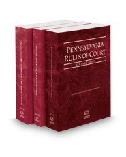 Pennsylvania Rules of Court - State, Federal and Federal KeyRules, 2016 revised ed. (Vols. I-IIA, Pennsylvania Court Rules)