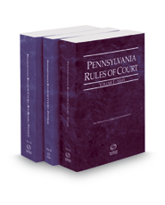 Pennsylvania Rules of Court - State, Federal and Federal KeyRules, 2017 revised ed. (Vols. I-IIA, Pennsylvania Court Rules)